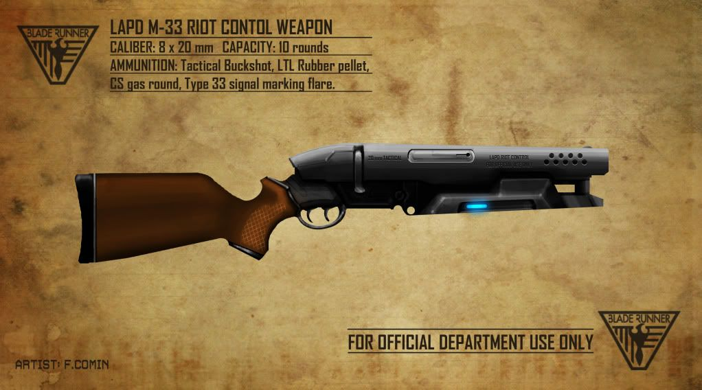 Blade Runner - fan made concept for a shotgun used by the LAPD in