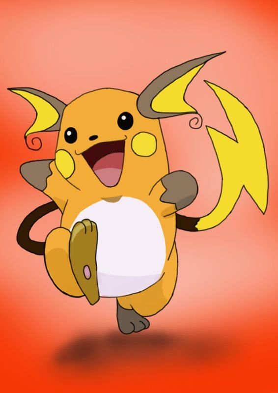 Raichu Is A Bipedal Rodent Like Character From Pokemon In This