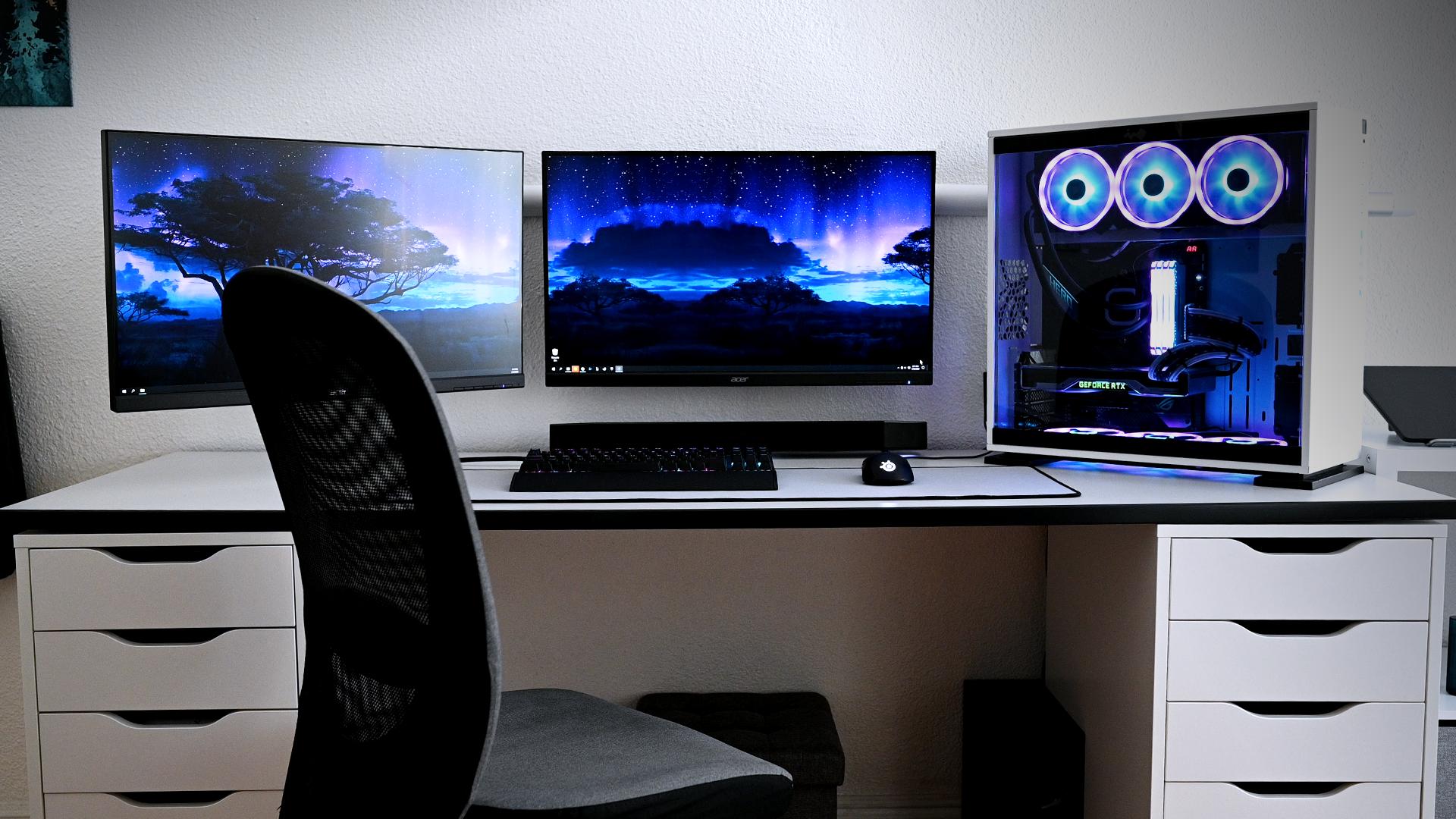 4k Workstation And Gaming Desktop In 2020 Workstation Gaming Desktop Computer Setup