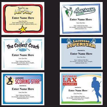 Lacrosse certificates lax lacrosse awards kid certificates lacrosse certificates for your lax team very cool yelopaper Gallery