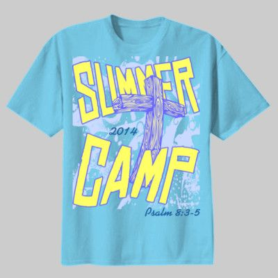 Church Summer Camp Design With Cross   Custom Printed Tees And Tie Dyes At  T Shirts Ink