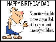 funny birthday cards for dad unique funny dad birthday card too