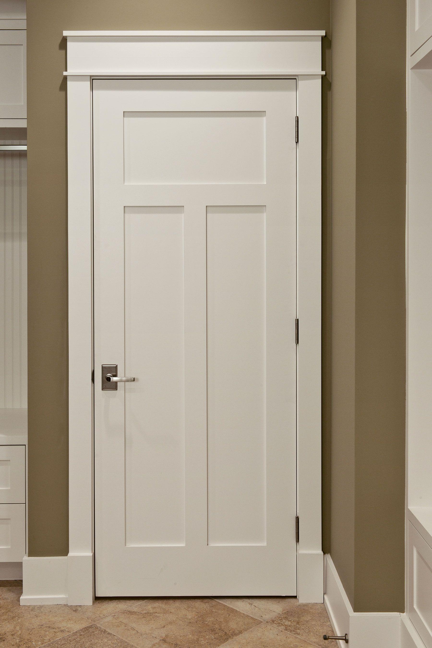 Custom Wood Interior Doors Craftsman Style Custom Interior Paint Grade Wood Door Craftsman Interior Doors Interior Door Styles Interior Window Trim