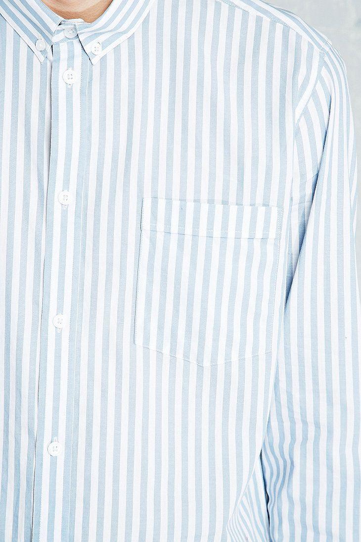 Cheap Monday Neon Shirt in Blue Stripe