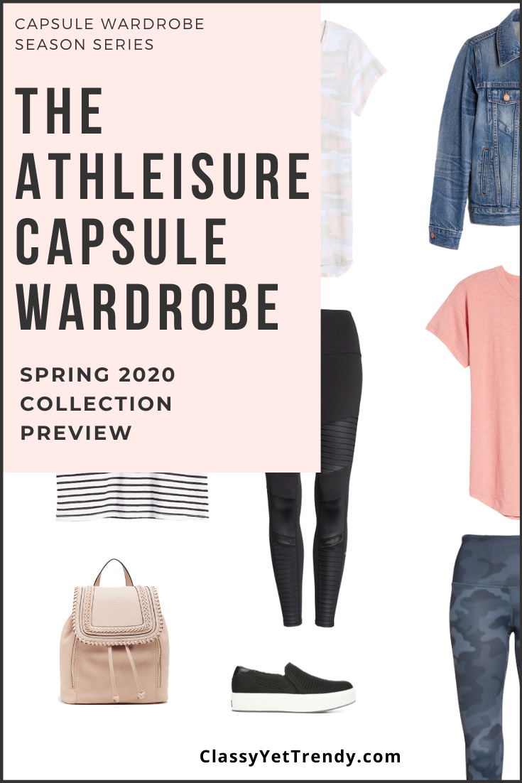 Athleisure Spring 2020 Capsule Wardrobe Preview + 10 Outfits