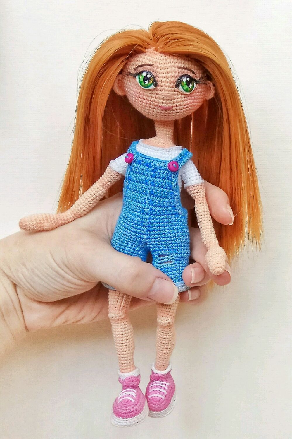 вязание ручной работы мастер класс по авторской вязаной кукле