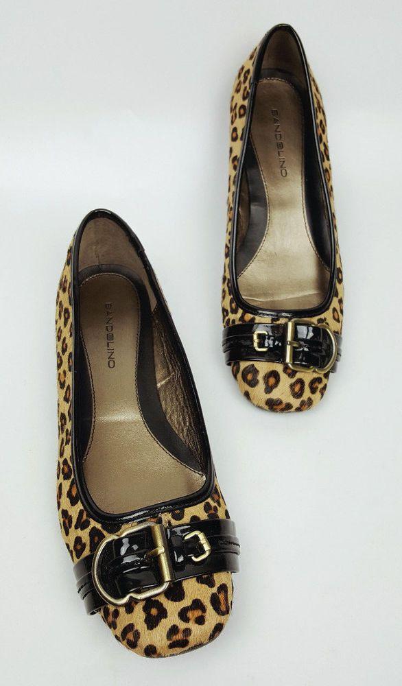 6172460d4487 Bandolino shoes 7 M calf hair leather leopard print Hopkirk flats  Bandolino   Ballerinas  Casual