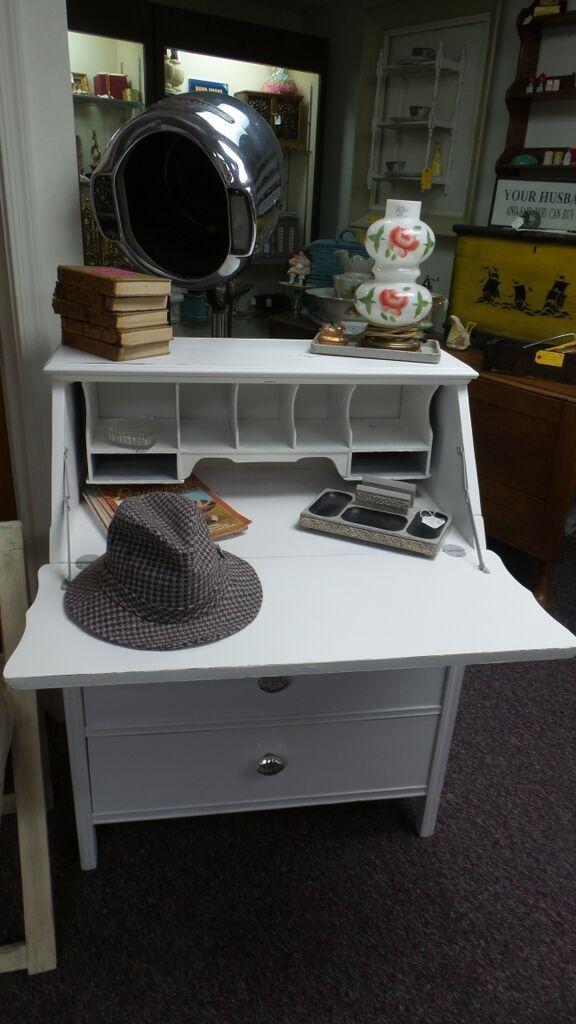 Annie Sloan Chalk Paint Pure White Secretary Desk
