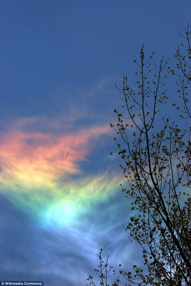 Rare Fire Rainbow Streaks Across 4th Of July Sky Clouds Natural Images, Photos, Reviews
