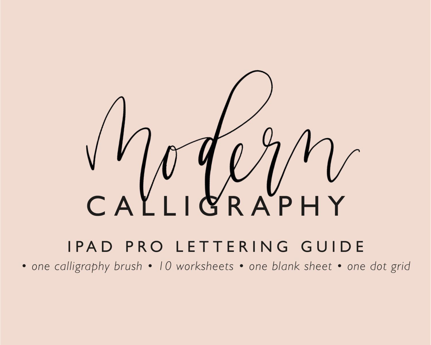 Modern Calligraphy Ipad Pro Lettering Guide