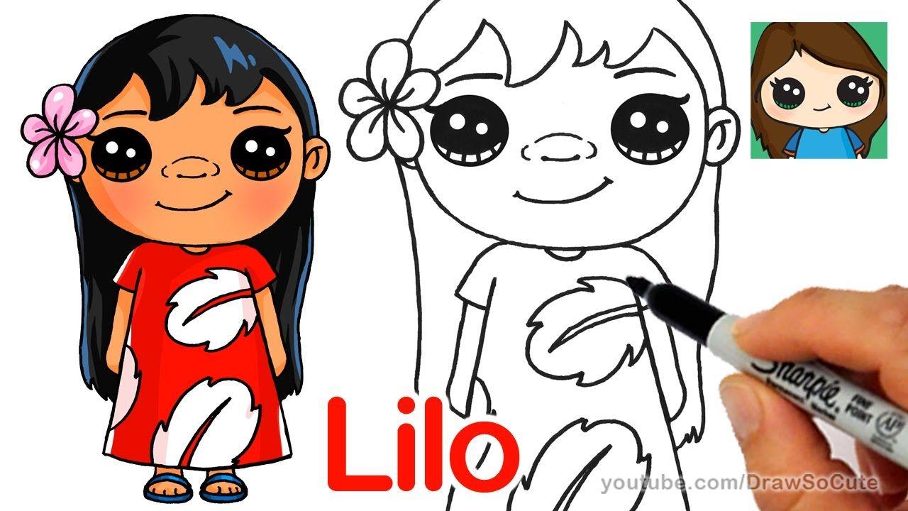 How To Draw Lilo Easy Disney Lilo And Stitch Stitch Drawing