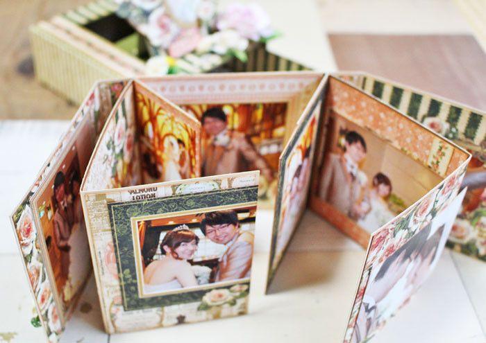 Tri Fold Album With Graphic 45 Portrait Of A Lady Album Card