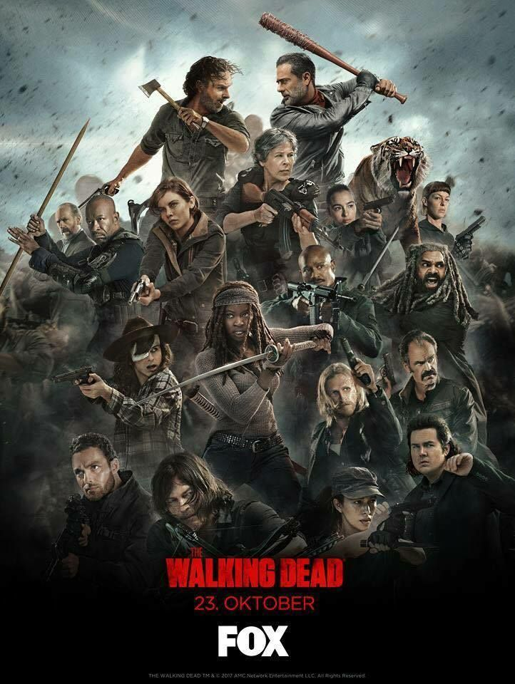 Novo Poster Da 8ª Temporada De The Walking Dead The Walking Dead