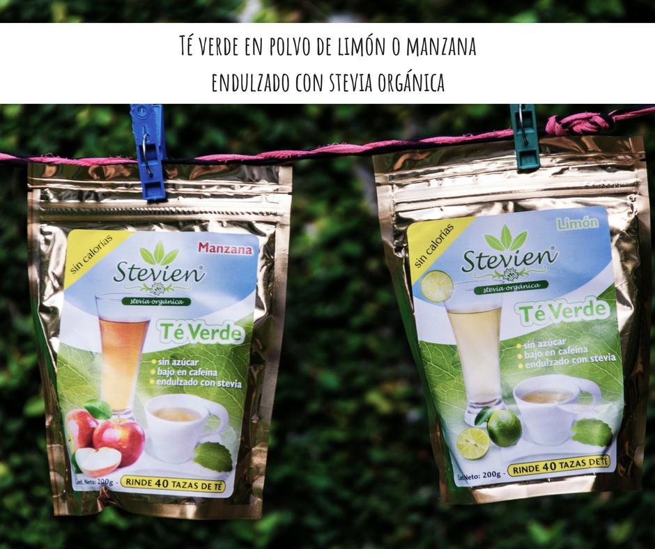 El mejor té verde en polvo sin azúcar, endulzado con estevia