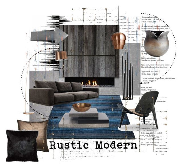 """Rustic and Modern"" by szaboesz ❤ liked on Polyvore featuring interior, interiors, interior design, home, home decor, interior decorating, Milton & King, Designers Guild, BoConcept and TemaHome"
