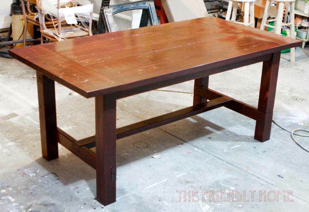 the friendly home 6 farmhouse table easier to sit at the ends of