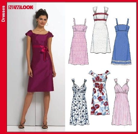 New Look 6749 New Look 6749 Différentes robes, tailles 34-44 ...