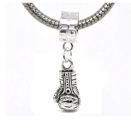 [Sponsored]Silver Interlocked pave Hearts Charm Compatible With Pandora, Chamilia, Biagi, Troll bmp