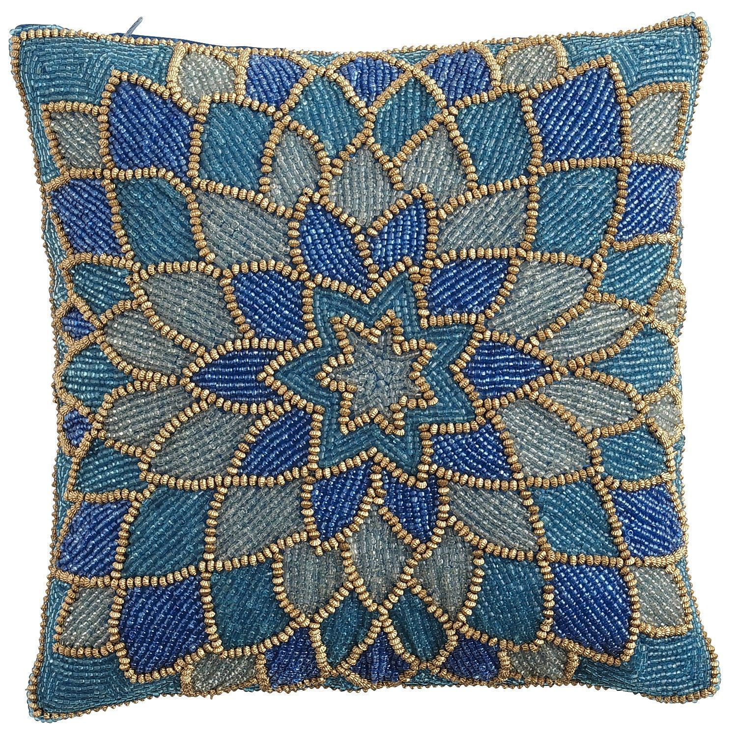 Teal Beaded Dahlia Pillow Pier 1 Imports Embellished Pillows