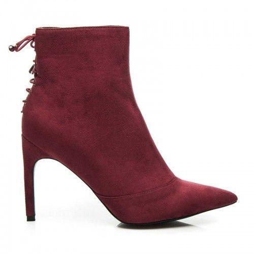 Dámské boty na podpatku Deneb červené - červená  97b72cdb33