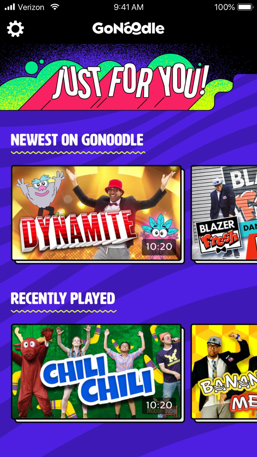 GoNoodle appsappappstoreios Gonoodle, Kids videos