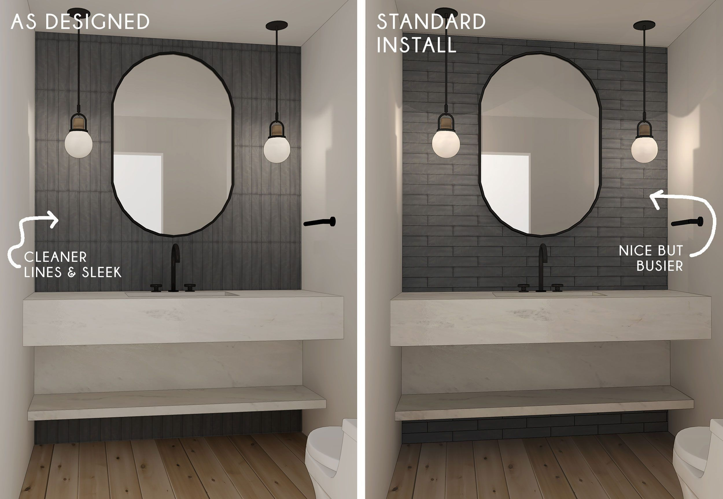 Bathroom Trends Are Stacked Tiles The New Subway Tile Bathroom