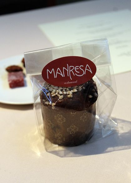 Chocolate brioche -- from the Michelin two-starred Manresa.