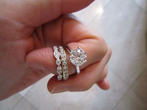 41f039908 ... einseine (from the purse forum) shows her tiffany classic ct engagement  ring wedding band ...