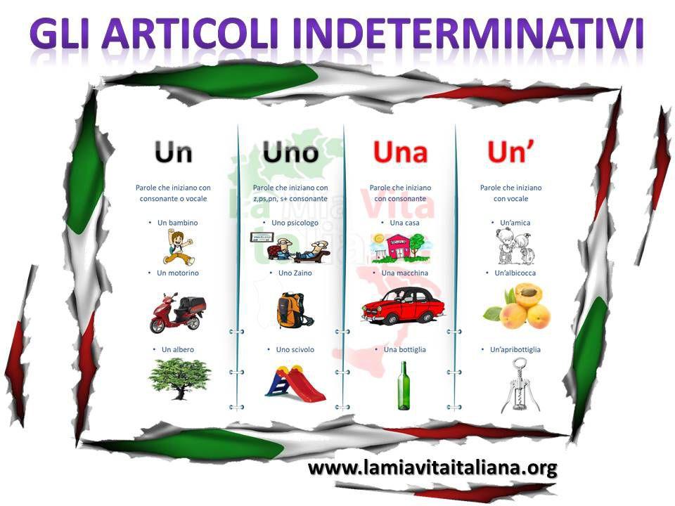 Que Es El Artículo Determinado E Indeterminado En Italiano Idioma Italiano Aprender Italiano Articulo Determinado