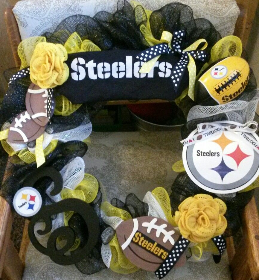 Steelers wreath.