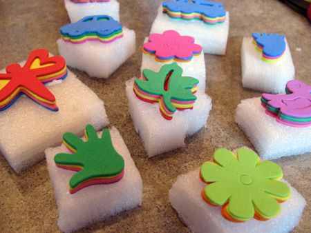 Make Your Own Stamps By Layering Foam Stickers From The