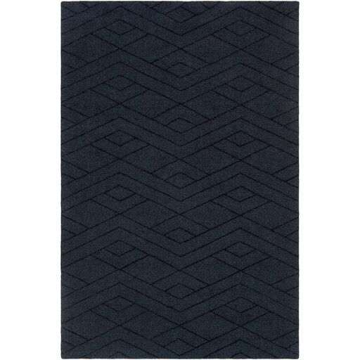 Sherford 2 X 3 Rectangle Navy Area Rug Wool Area Rugs Solid Area Rugs