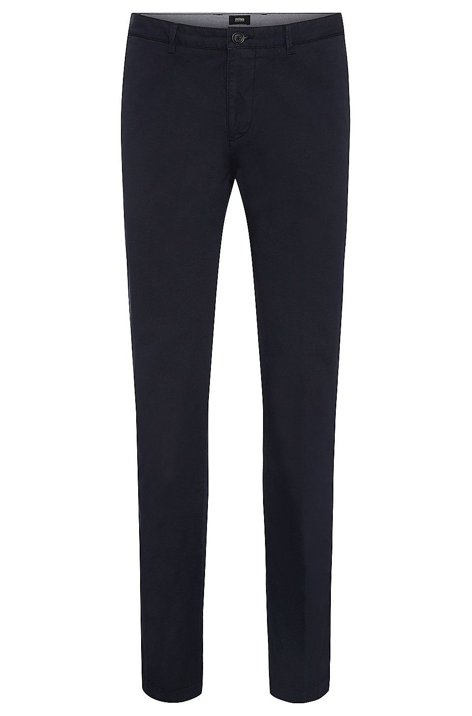 f07e0274b8 HUGO BOSS Regular-fit chinos in stretch cotton gabardine - Dark Blue ...