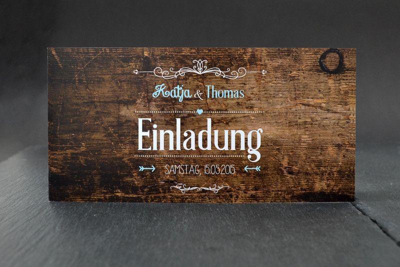 50 X Hochzeitseinladungen Holz Von Liebelein Shop Auf Dawanda Com