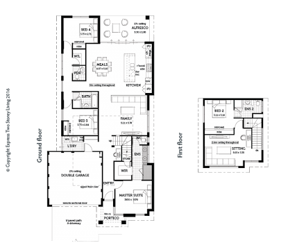 Image Result For Double Storey House Master Bedroom Downstairs Floor Plans House Floor Plans Double Storey House