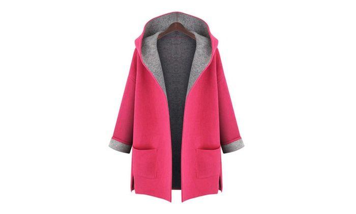 Groupon Goods Global GmbH: Cappotto da donna con cappuccio, disponibile in diverse taglie e colori, a 29,99 € (63% di sconto)