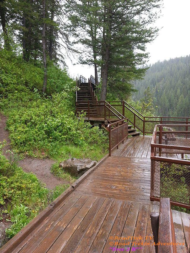 Trail Of Highways Mesa Falls Idaho After Passing Through