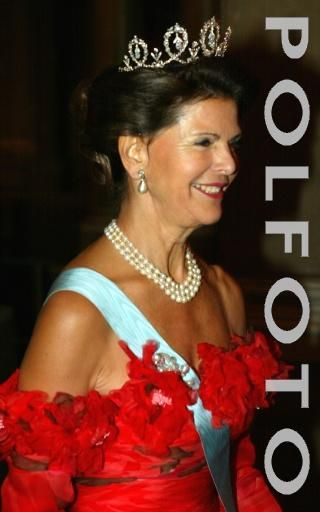 Queen Silvia wore this tiara for the Representatives Dinner in January 2003.