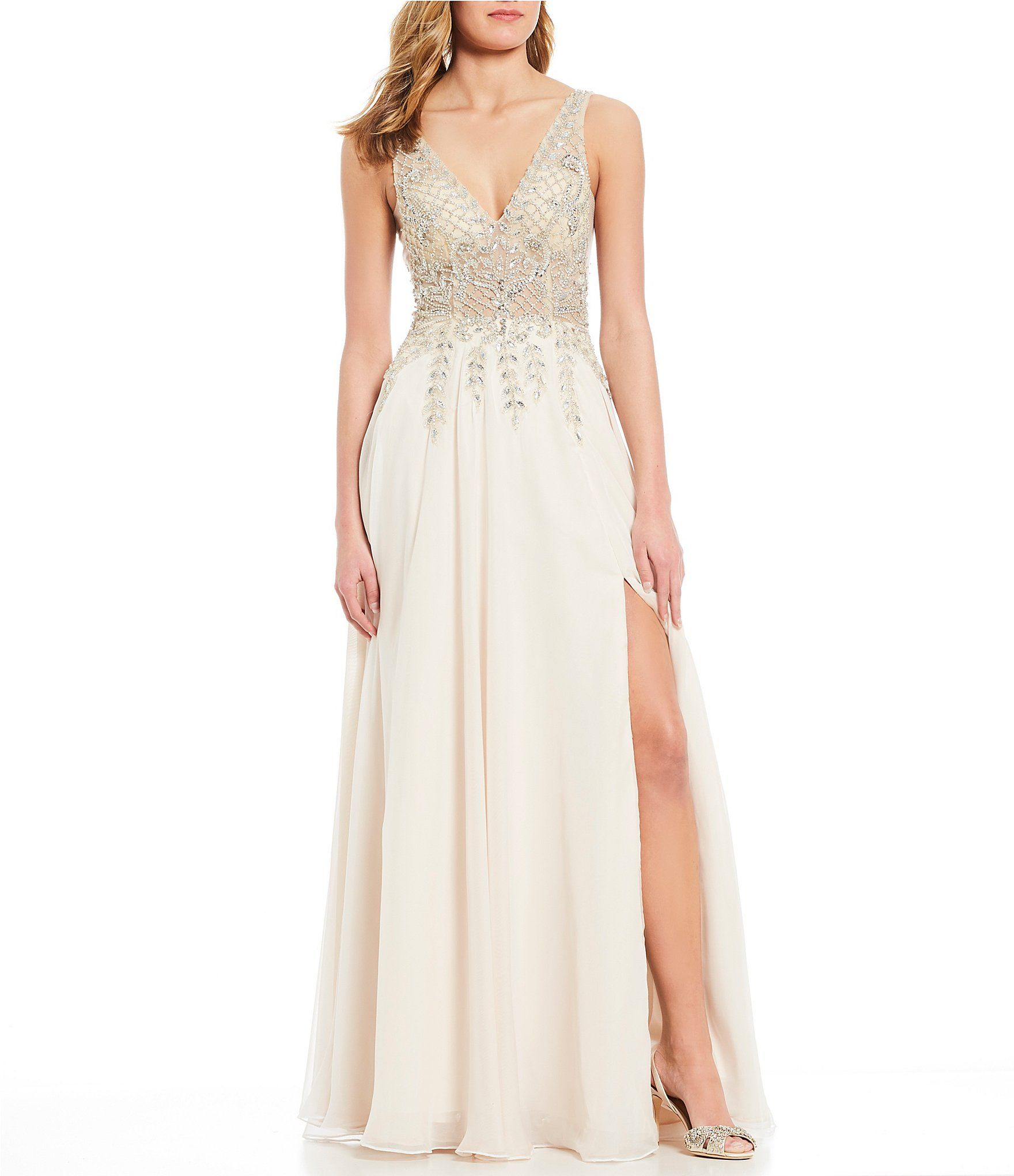 53995c9c18 Shop for GB Social V-Neck Crystal Beaded Gown at Dillards.com. Visit  Dillards.com to find clothing