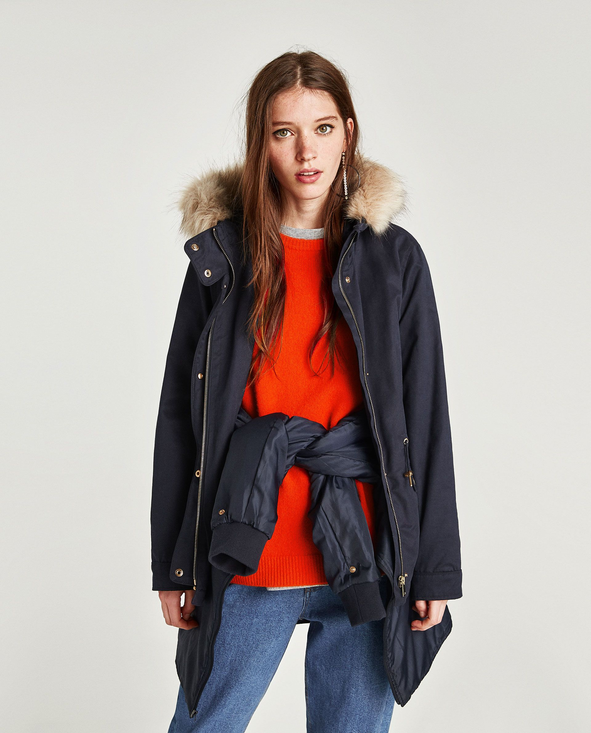 518a793f Image 2 of PARKA WITH REMOVABLE FAUX FUR from Zara Canada Goose Jackets,  Parka,