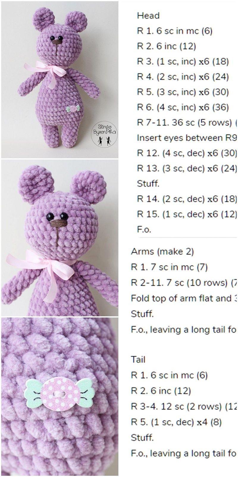 Warm teddy bear puffy effect a crochet amigurumi soft velvety | Etsy | 1600x800
