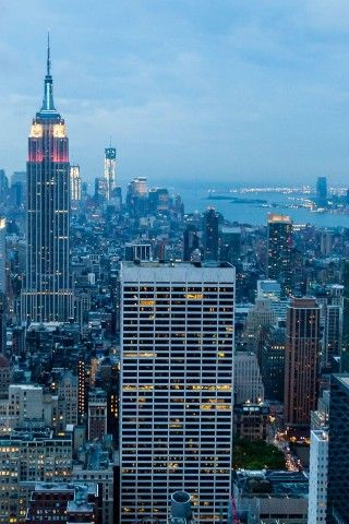 New York City Blue Dusk Iphone 6 Plus Hd Wallpaper Travel Wallpaper New York Travel Dream City