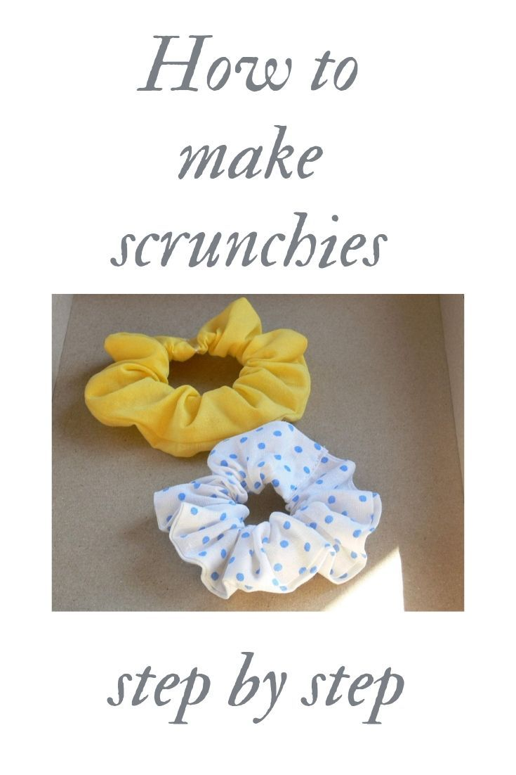 Free Sewing Pattern for Beginners - SCRUNCHIES DIY #hairscrunchie