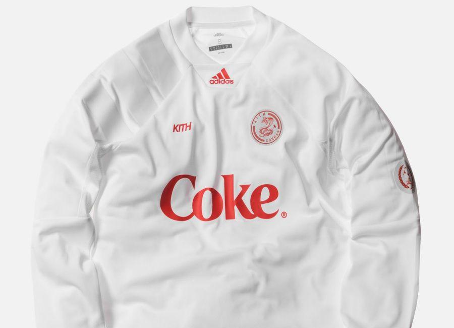 50ab96025 #football #soccer #futbol #fussbal Kith X Adidas - New York Cobras Away L/S  Jersey - White