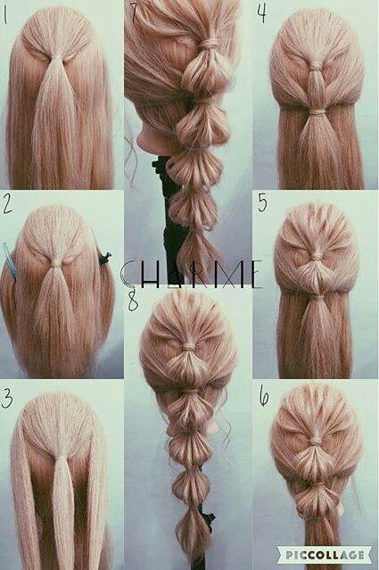 cute hair <3 # water fall Braids tutorial # water fall Braids tutorial