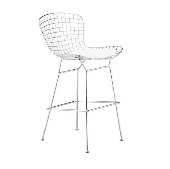 Strange Bertoia Style Wire Counter Stool Classic Counter Chair Theyellowbook Wood Chair Design Ideas Theyellowbookinfo