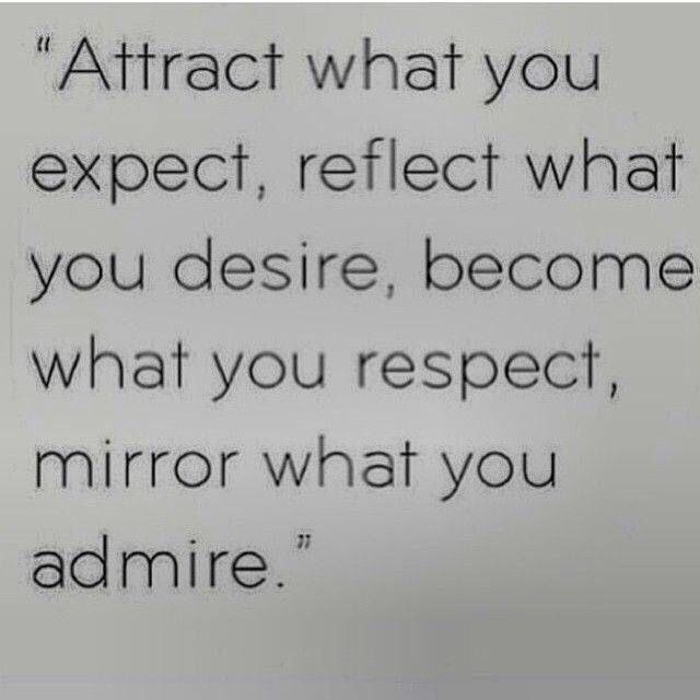 Be what you admire