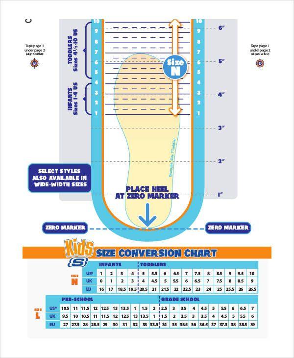 Skechers Size Chart : skechers, chart, Health