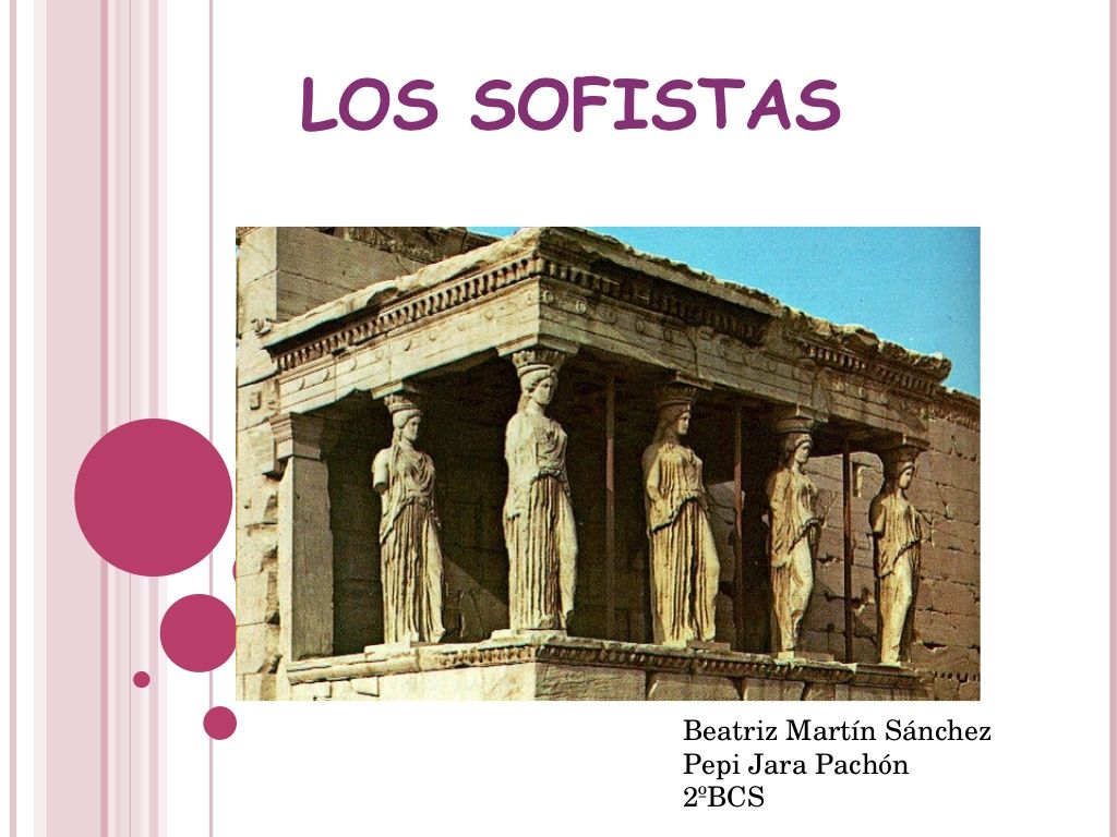Los Sofistas by deptofilo via slideshare