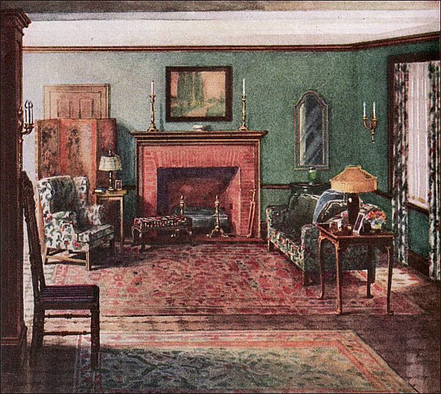1919 armstrong living room dutch colonial for 1920s living room ideas